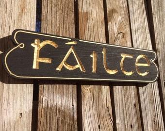 New FAILTE sign
