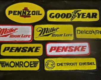 INDY 500 Patches 1988 CHOICE of ONE New Old Stock Penske Pennzoil Good Year Miller High Life Monroe Delco Remy Iron On