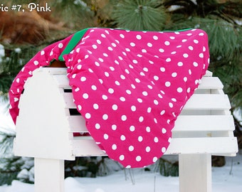 MADE TO ORDER Fleece Lined  Polka Dot Reversible Saddle Cover Many Colors