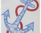 50% OFF SALE Anchor 01 Machine Applique Embroidery Design - 4x4, 5x7 & 6x8