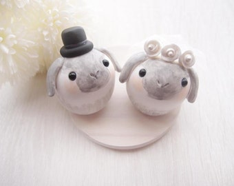 Love Wedding Cake Toppers - Sweet bunny with base