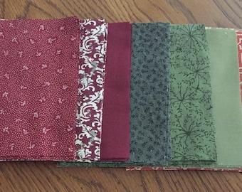 40 - 5 Inch Autumn Toned Quilting Squares - Patchwork Quilting Squares - 8 Different Fabrics - Quilting Fabric