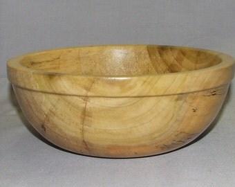 "Rimmed Poplar wood bowl, 7 1/2"" diameter x 3"" high, Item 103418"