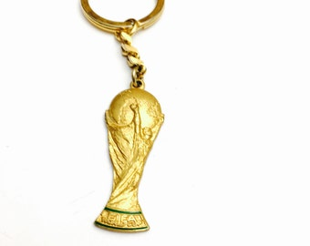 Vintage FIFA Key Chain, gold tone, soccer fan, Clearance Sale, Item No. B008