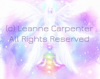 Connecting with Seraphim, Original Art by Leanne Carpenter Canvas Prints