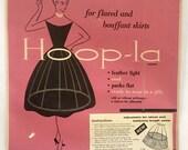Vintage 1950s 60s Hoop-La Shaper Skirt Form Petticoat Original Packaging