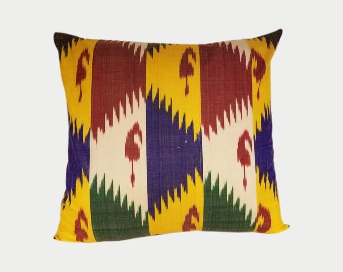 Ikat Pillow, Ikat Pillow Cover NPI105, Ikat throw pillows, Designer pillows, Decorative pillows, Accent pillows