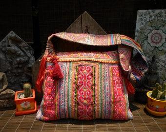 Embroidered Tribal Baby Carrier Textile Shoulder Bag