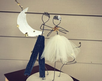 Wedding Cake Topper Love You To The Moon And Back