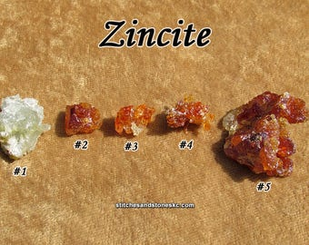 Zincite stone for crystal healing