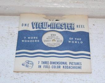 Vintage Viewmaster Reel Homes Of Movie Stars In Hollywood