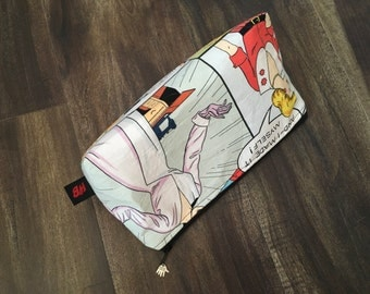 Handmade Vintage Sewing Makeup Pouch
