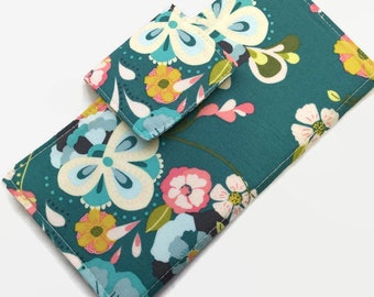 Credit Card Holder, 12 credit card Holder, Floral Card Holder, Card Holder, Small Card Holder