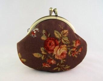Cute Coin Purse - Change Purse - Coin Pouch - Change Pouch - Flower Purse - Kiss Lock Coin Purse