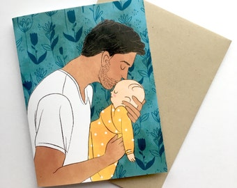Congratulations New Father - A2 Card