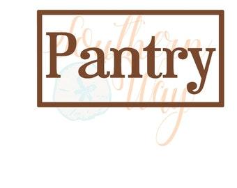 Vinyl Decal - Pantry Decal - Personalized Vinyl - Pantry Door Decal - Door Decal- Home - Living - Kitchen - Pantry Door Vinyl Decal