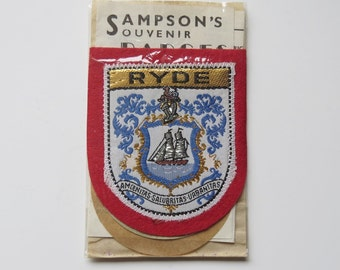 Vintage Sampson's Ryde Isle of Wight Embroidered Fabric Patch - Ryde Patch Badge - Isle of Wight - Ryde - Souvenir Patch