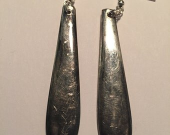 Silver plated spoon earrings #1