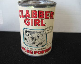 Vintage Clabber Girl Baking Powder Tin