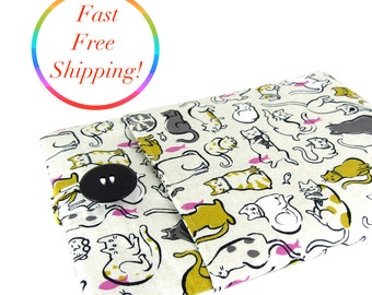 Cat Laptop Sleeve, Computer Case, Laptop Case, Macbook Pro Case, Macbook Air Case, 11 Inch Laptop Sleeve, 13 Inch Laptop, Cat Laptop Case