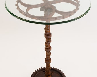 Rusty Industrial Gear Table