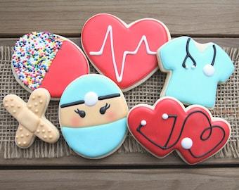 Nurse Appreciation Gift // Nurse Appreciation Day Gift // Gift for Nurses // Nurse Thank You Gift // Nurse Gift // Nurse Sugar Cookies