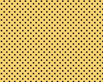 Wilmington Prints - Follow the Sun - Dot - Yellow/Black