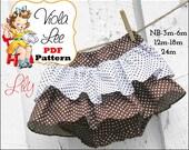 Lily... Infant Bloomer Skirt Pattern, Infant Sewing Pattern, Ruffled Bloomer Pattern. Baby Skirt Pattern. pdf Sewing Pattern, Baby Pattern