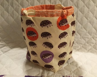 Lizzy House Hedgehogs Sock Sack Ready to Ship