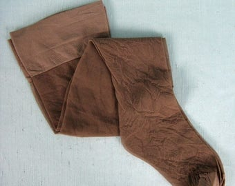 Moving Sale...30% Off Vintage 1970s 1980s Thigh High Stockings NOS 70s 80s Seamless Hosiery Size A Style 787 / Color Mist