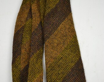 Mens Vintage 50's 1950's 60s VTG Made In England Tweed Wool Tie Autumnal Tones