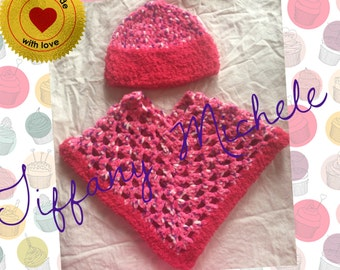 Fluffy Poncho Baby Gift Set