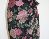 HOLIDAY SALE 80's Emmanual Ungaro Floral Print Tulip Skirt