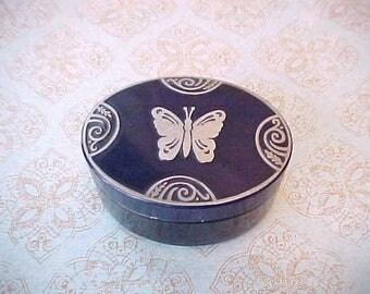 Charming Art Deco Metal Powder Box by Lucretia Vanderbilt