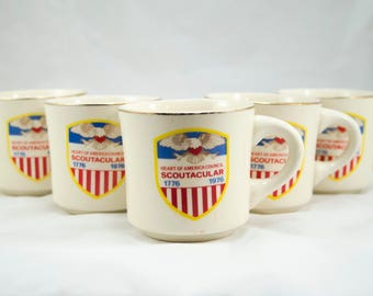 Vintage Boy Scout Mug, Heart of America Council Scoutacular 1776-1976, Tea Mug, Coffee Mug,Vintage Kitchen, Vintage Coffee, Vintage Tea, BSA