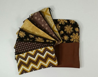 Cash Budget System, Cash Envelope Wallet -Brown Faux Leather (It can be used with the Dave Ramsey system)