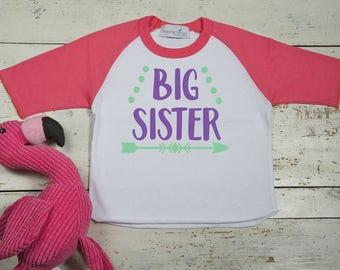 Big Sister Shirt-Big Sister to be Shirt-New Baby Announcement-Pregnancy Announcement-Big Sister Shirt-Promoted to Big Sister-Big Sis Shirt