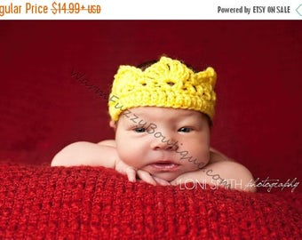 SALE 20% OFF Baby Prince Princess Royal Crown Hat - U Pick Colors - Newborn Boy Girl Costume Halloween  Photo Prop Cap Winter Outfit