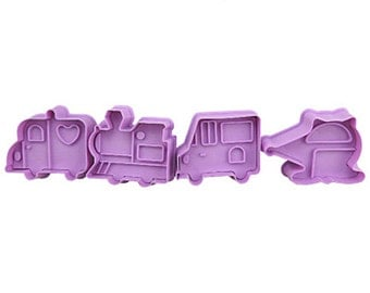 3D Cookie Stamp Cutters/Transportation Cookie Stamp/Embossing Cookie Mold/Candy Stamp Cutters/Candy Mold/Baking Supply