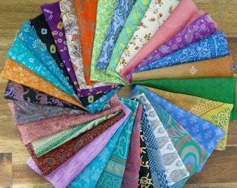 Mixed  silk remnants, silk fabric scraps