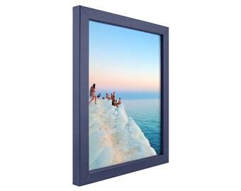 craig frames 18x24 inch colori 075 modern blue picture frame 720251824