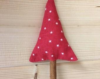 Christmas tree decoration with cinnamon stick stump holidays