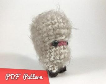 PDF Pattern for Woolsworth Amigurumi Kawaii Keychain Miniature Doll
