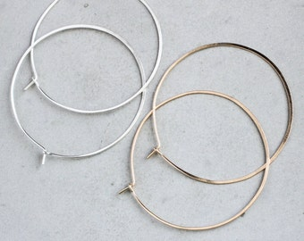 Classic Hoop Earring, simple hoop earrings, delicate hoops, modern geometric jewelry