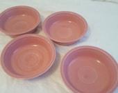 Homer Laughlin Rose Fiestaware Coupe Soup Bowls - set of 4