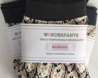 3 Pk of Floral - Truly comfortable organic underpants.