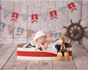Boat Prop, Newborn Photography Prop, Boat Photo Prop, Newborn Photo Prop