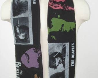 T-Shirt Scarf: The Beatles; John,Paul, George, Ringo;  The Fab Four;  music scarf, rock and roll, wearable fabric art. long scarf, rock star