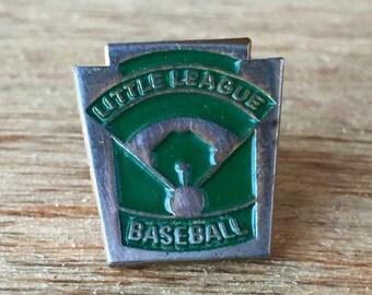 Green Little League Baseball Pin