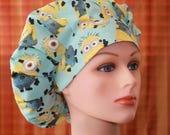 Bouffant Surgical Scrub Hat/Chef Hat/Scrub cap/Scrub Hats--Minions